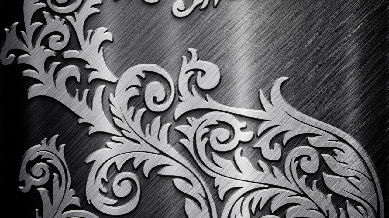 metallic gray tribal