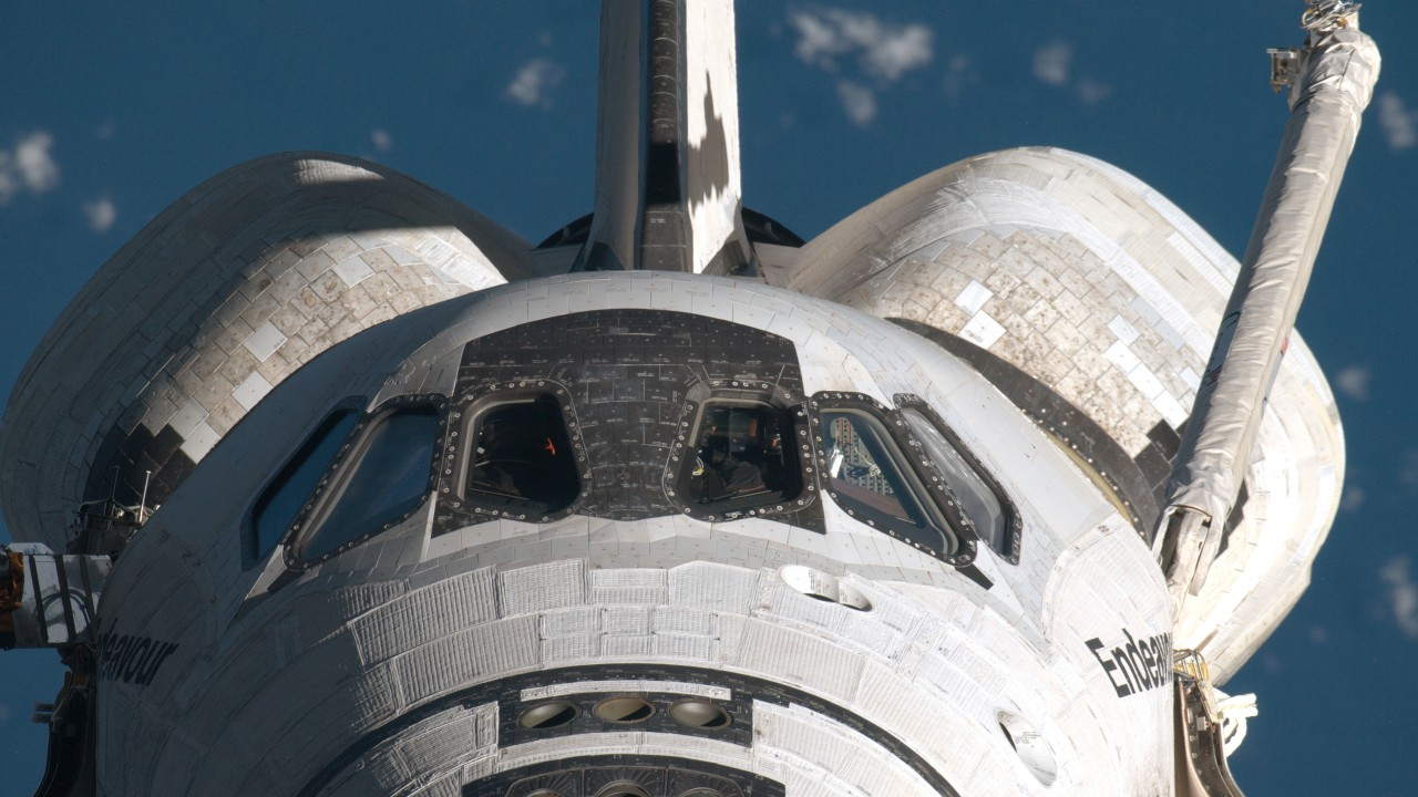 Endeavour in space