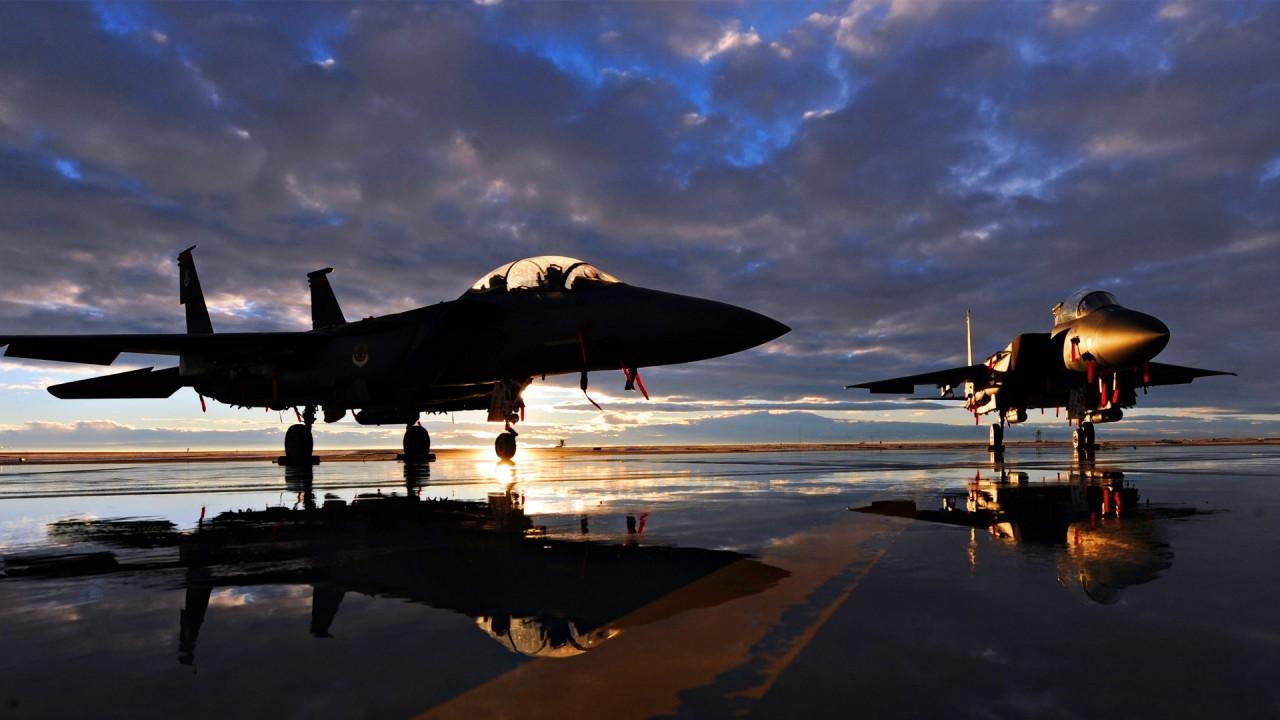 sunset jet aircraft hd wallpaper