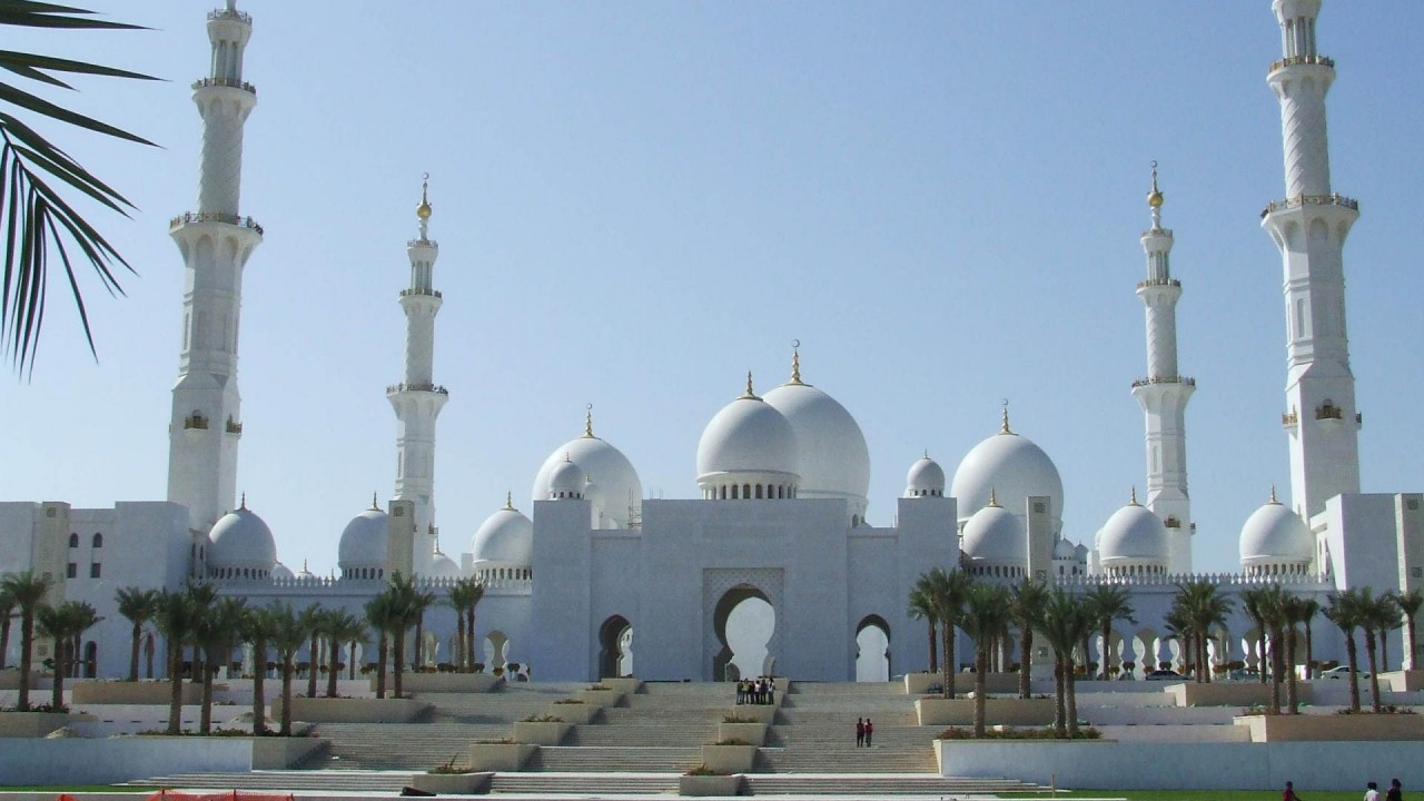 hd wallpaper Sheikh Zayed Grand Mosque Mughal architecture Abu Dhabi United Arab Emirates