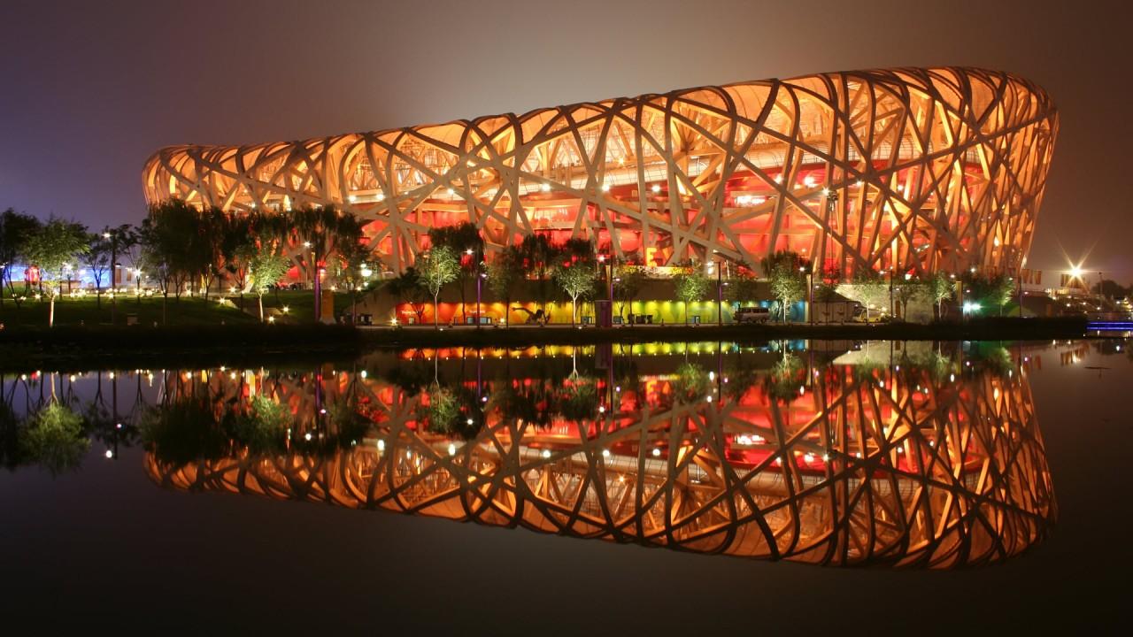 hd wallpaper birds nest stadium bejing china