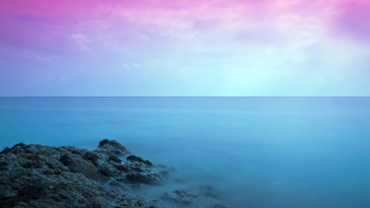 colorful seascape wide