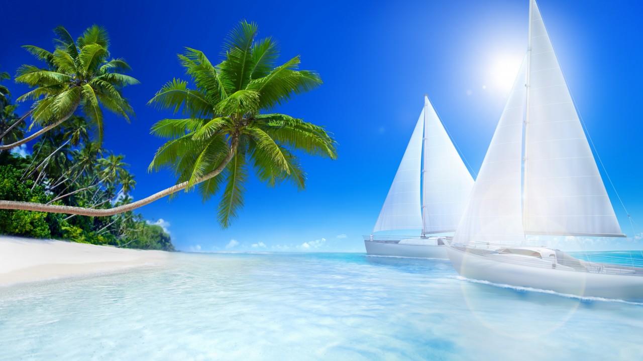 tropical beache wide