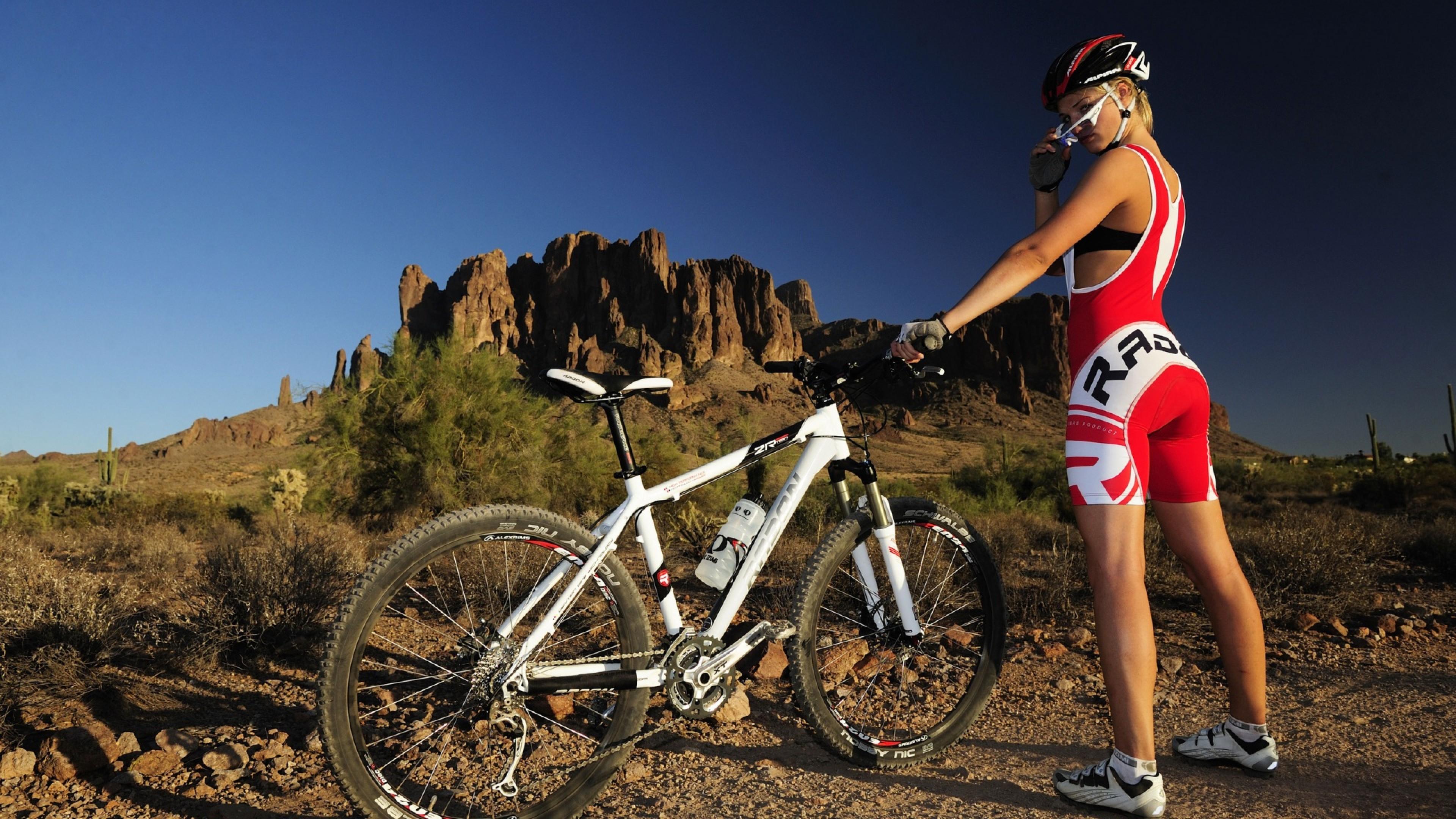 Hd Wallpaper Mtb Mountainbike Girl And Bike Wallpapers Trend
