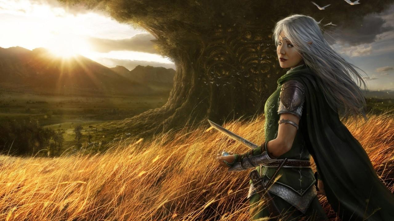 elf girl with sword