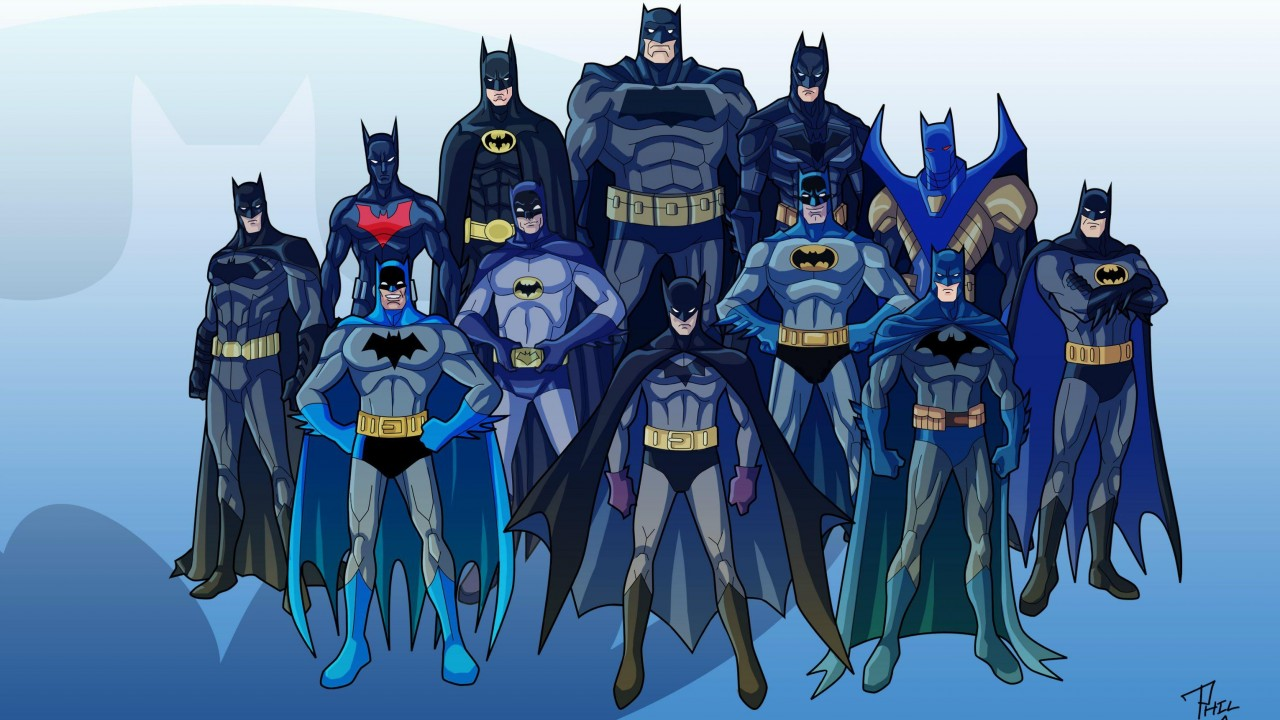 Various Batman characters