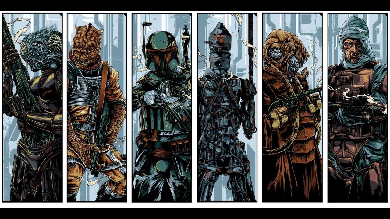 Various bounty hunters