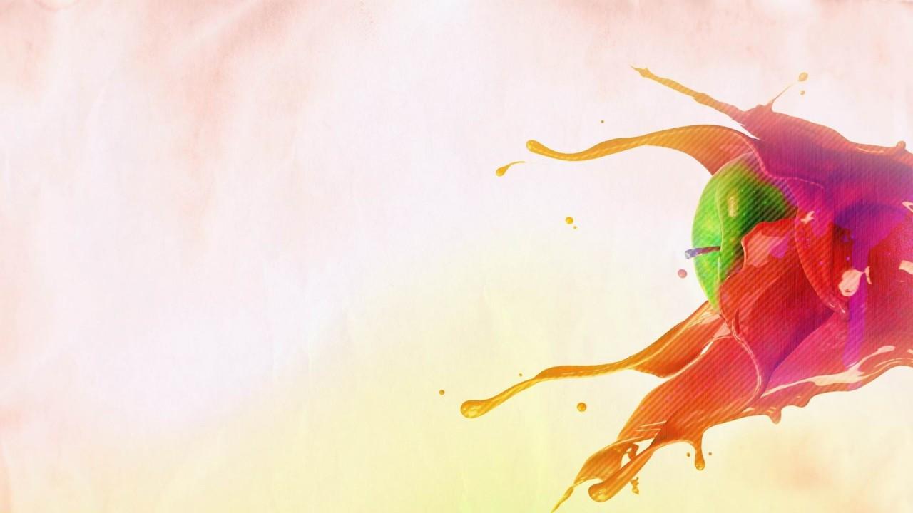 grapichs apple splash creative hd wallpaper