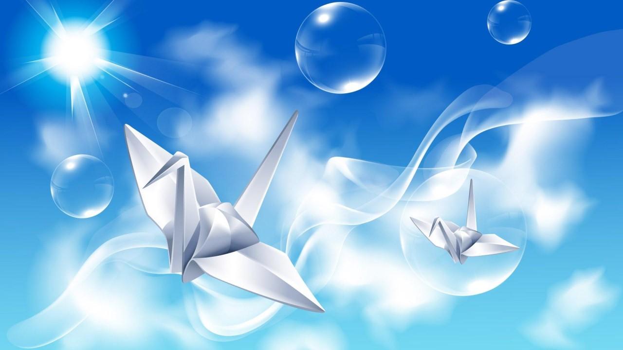 hd wallpaper creative design paper crane