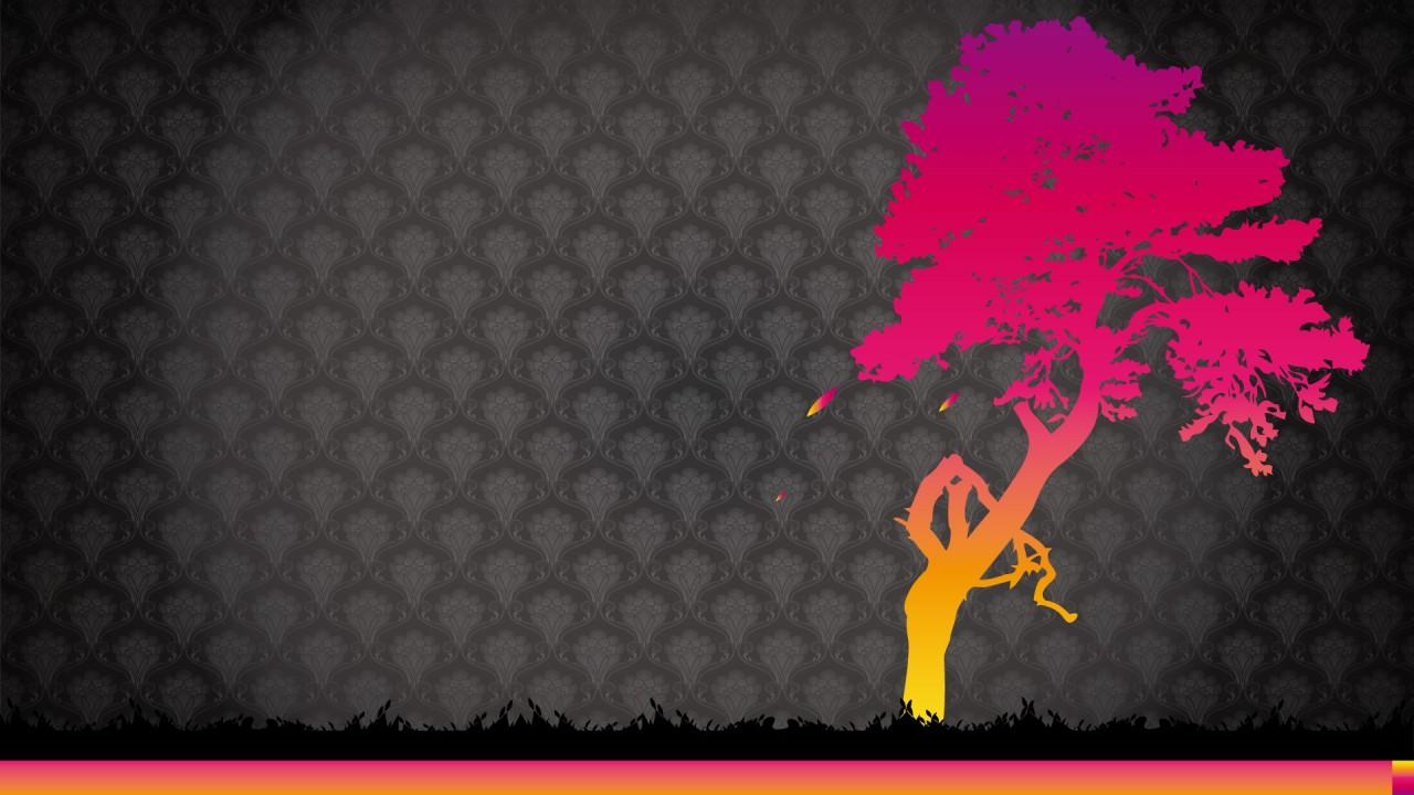 hd wallpaper vector tree graphic