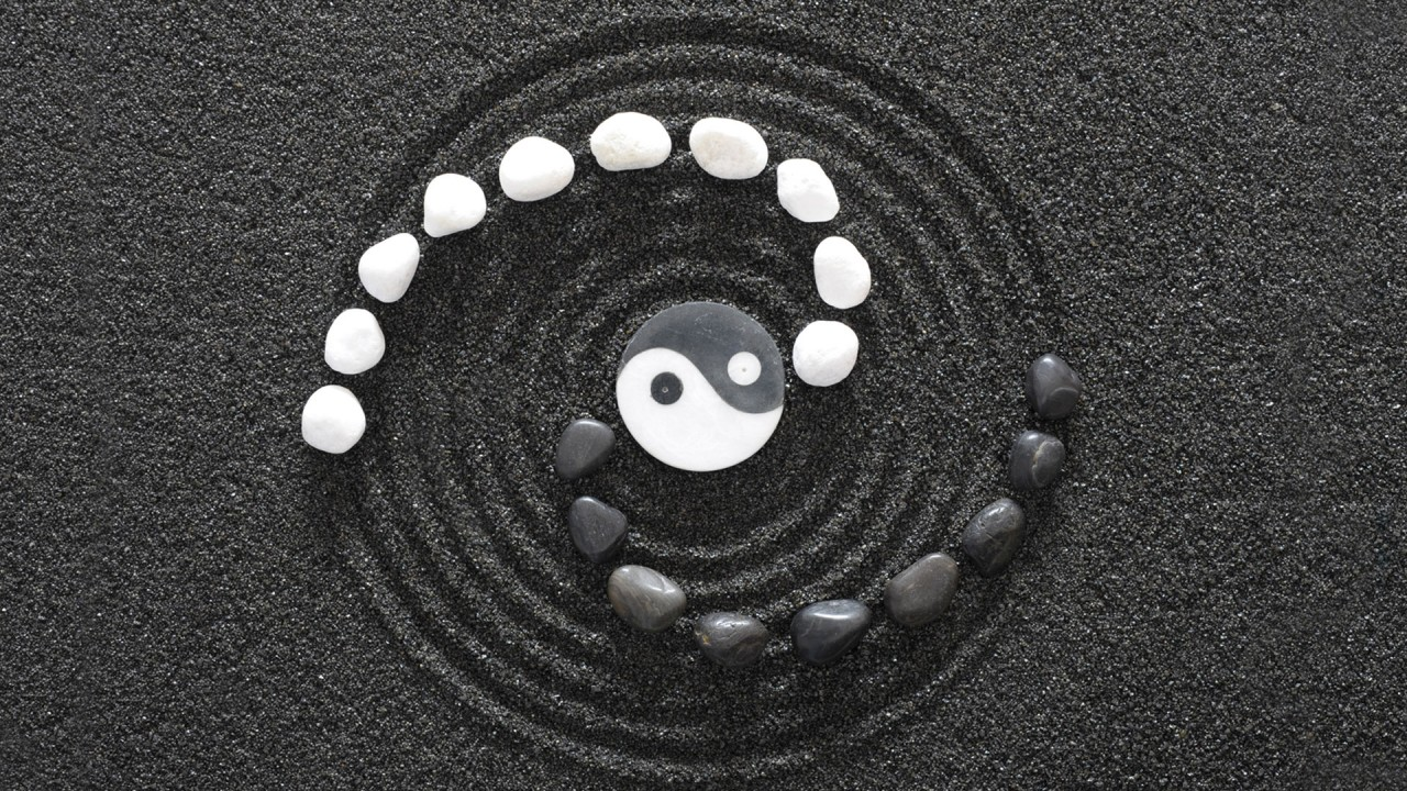 yin and yang spiral