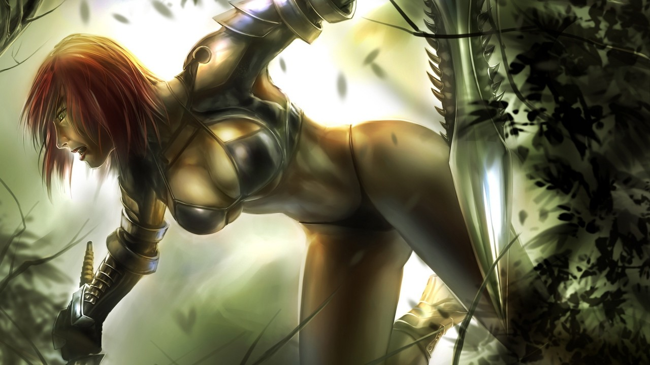 girl fantasy hd warrior hd wallpaper