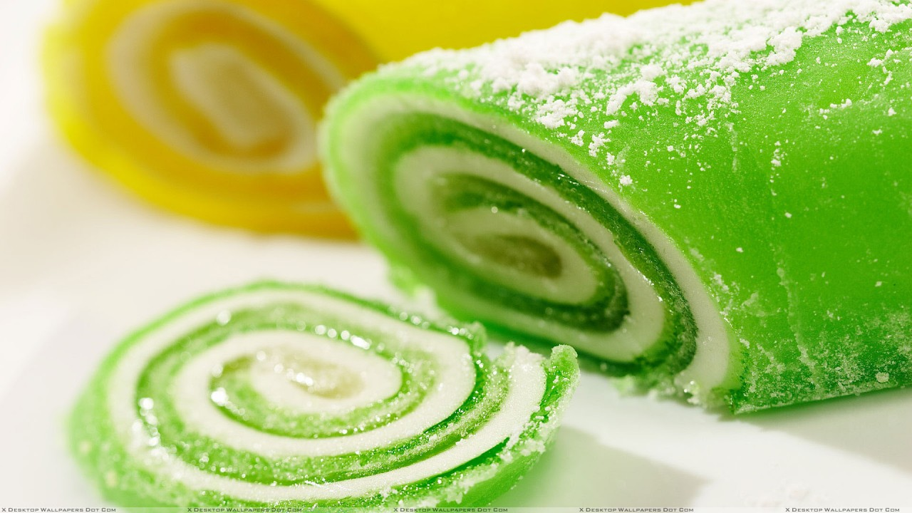 green and yellow sweet candy hd wallpaper