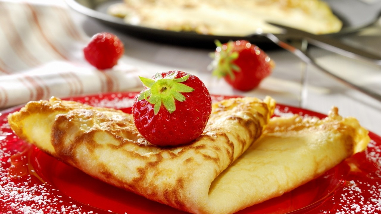 hd wallpaper pancake with strawberries