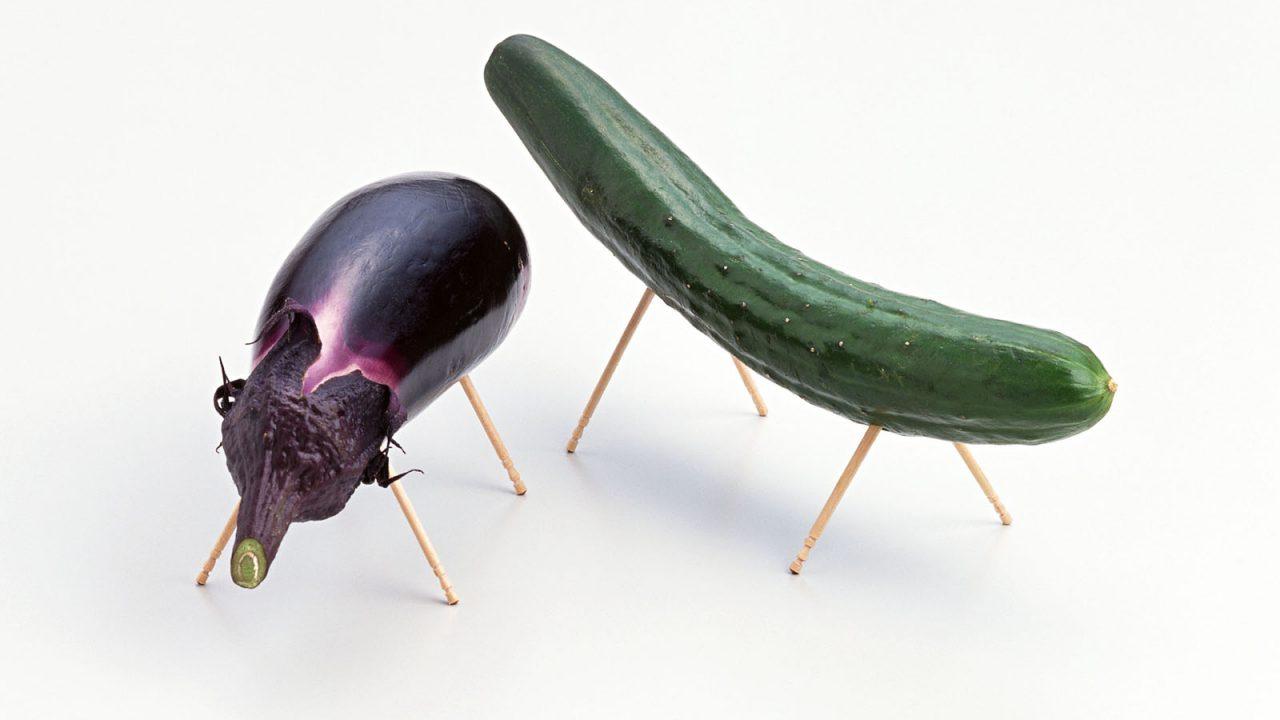 eggplant and cucumber