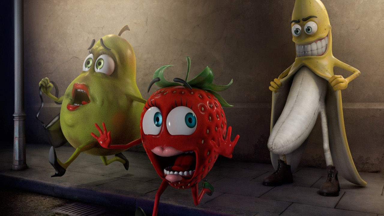 funny fruits hd wallpaper