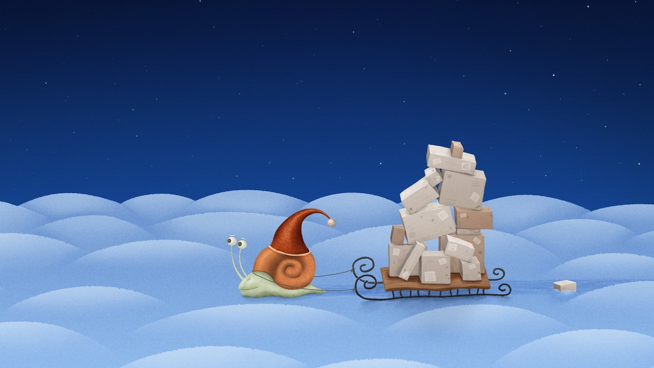 santa snail