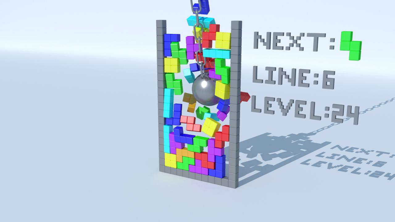The new 3d tetris