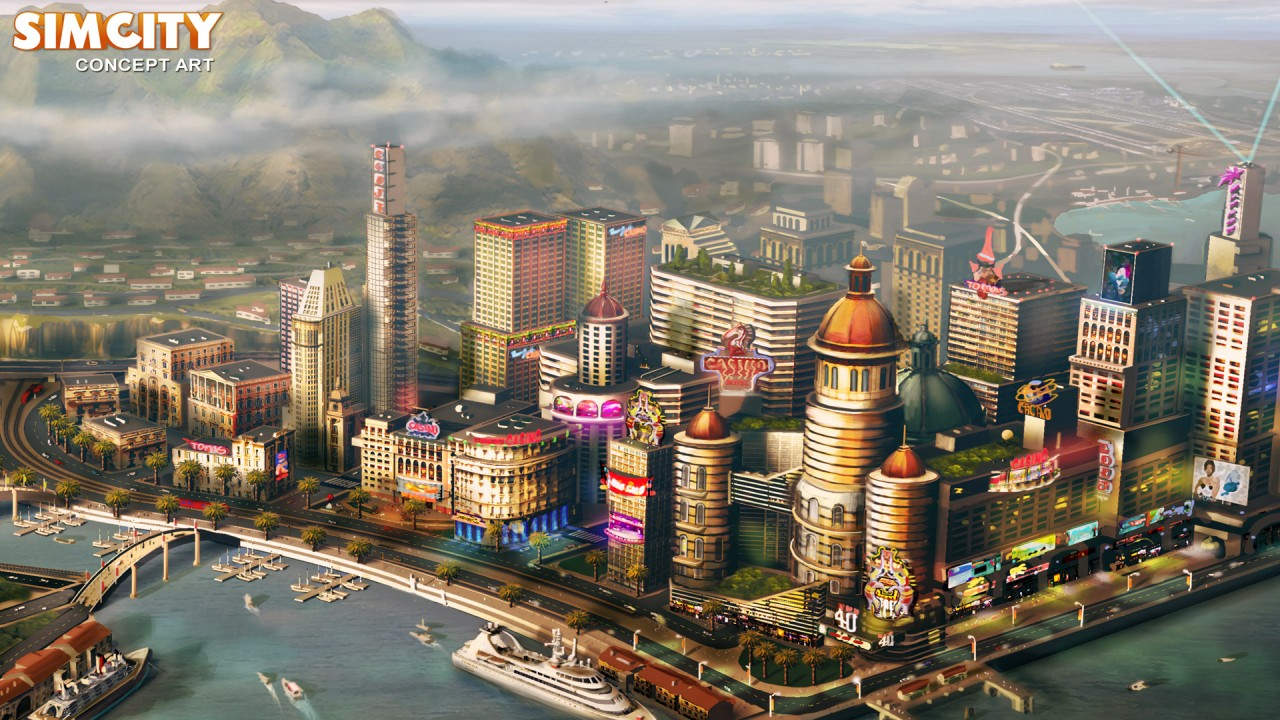 hd wallpaper games sim city