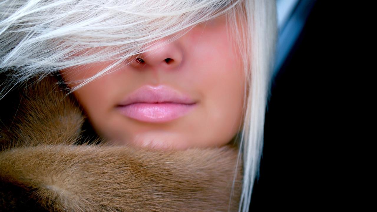 appealing pink lips