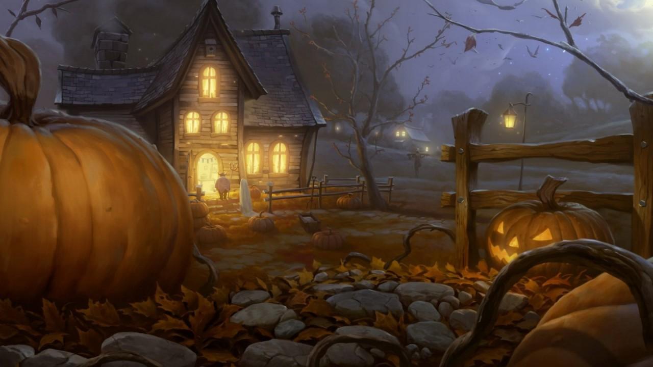 halloween night hd wallpaper