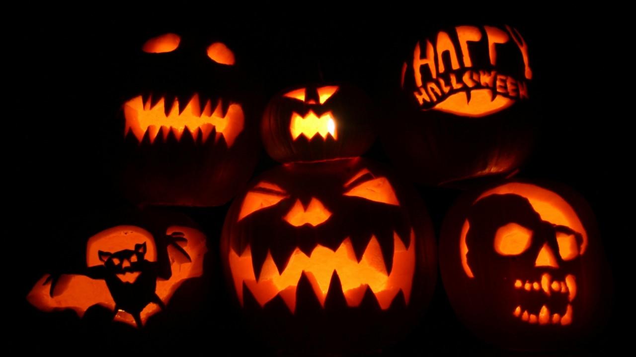 halloween pumpkins hd wallpaper