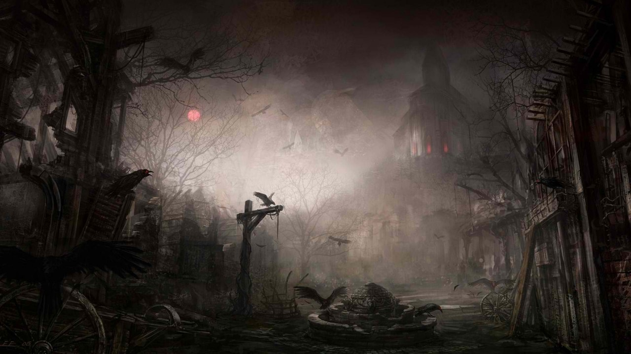scary halloween background hd wallpaper