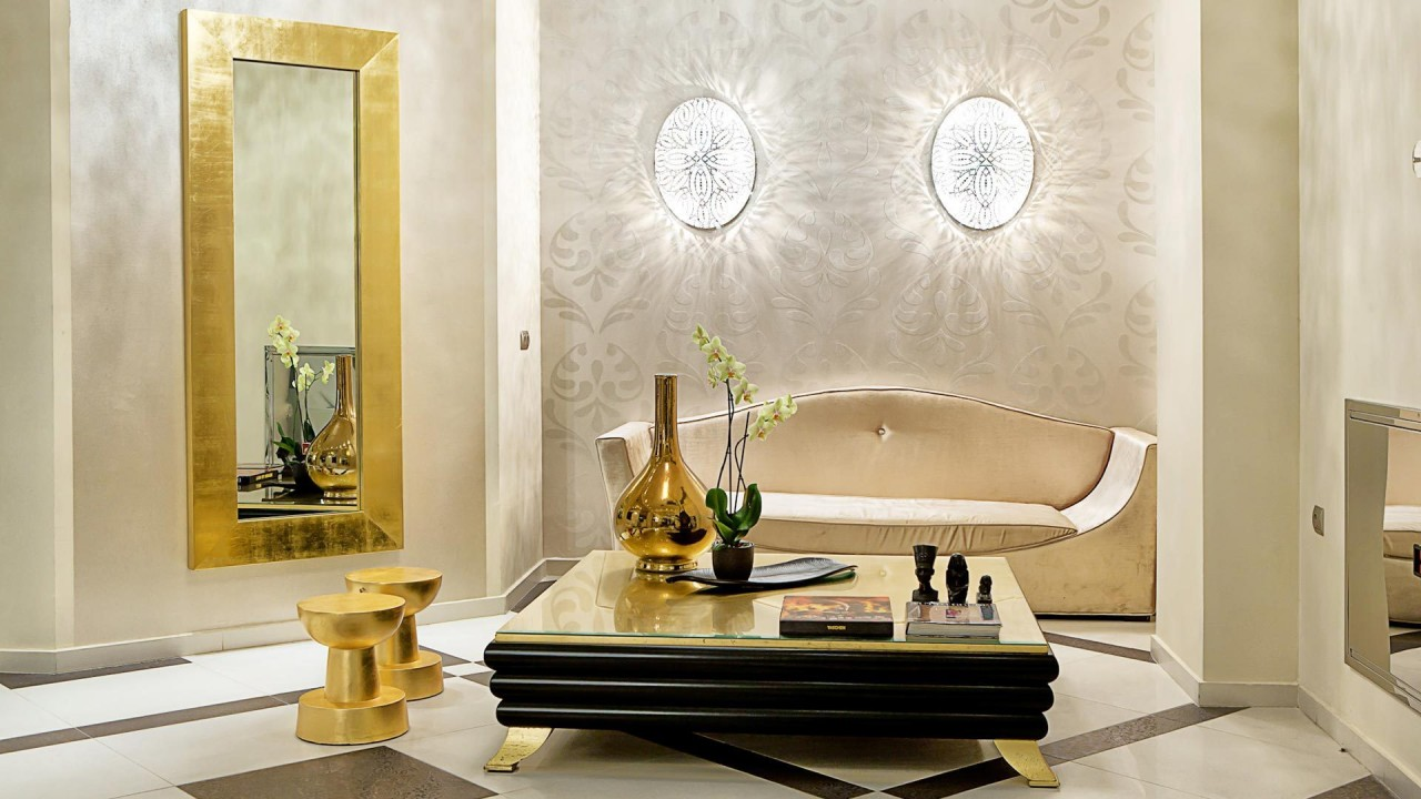 golden interior design hd wallpaper