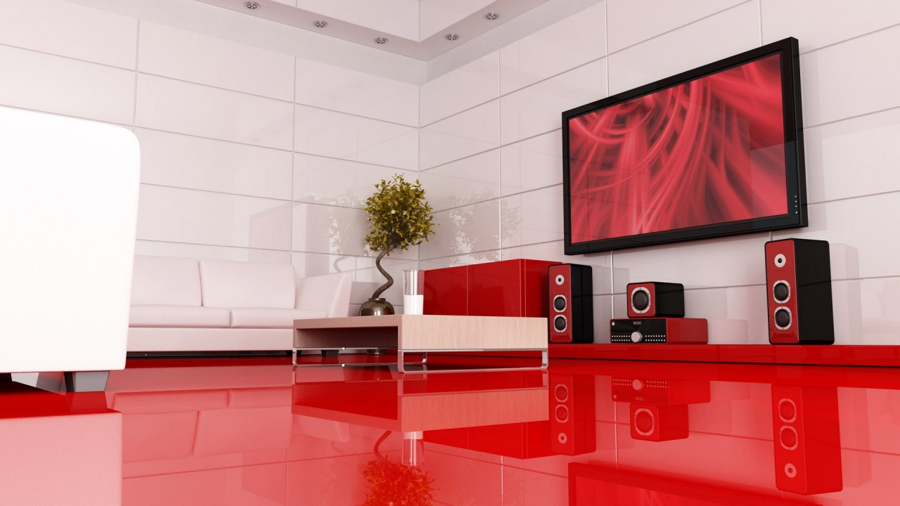 hd wallpaper red modern interior design