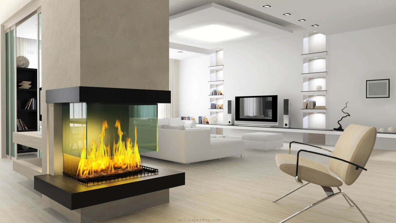 interior fireplace living room hd wallpaper