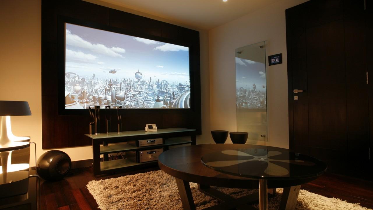large plasma tv wall