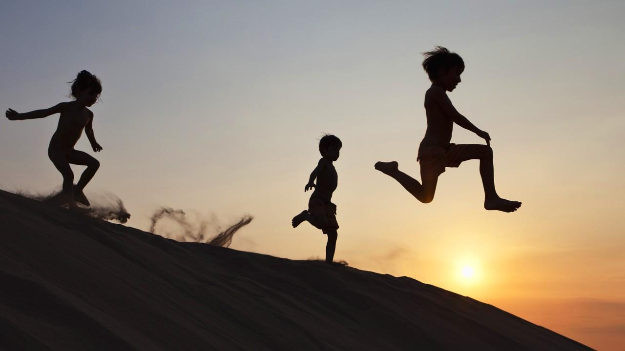 hd wallpaper kids running
