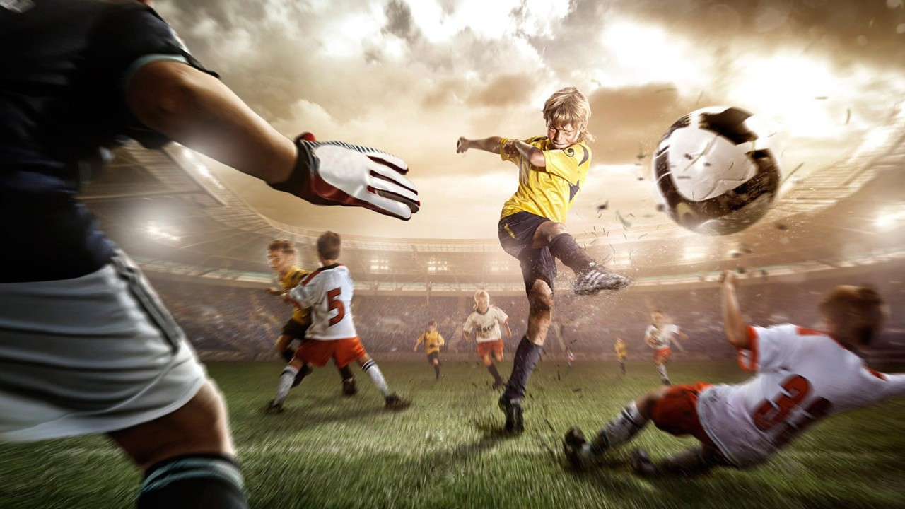 hd wallpaper soccer children goal