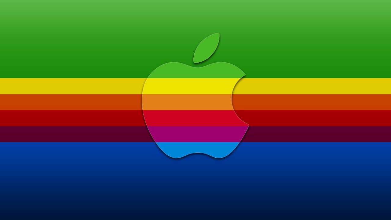 apple in colors wide