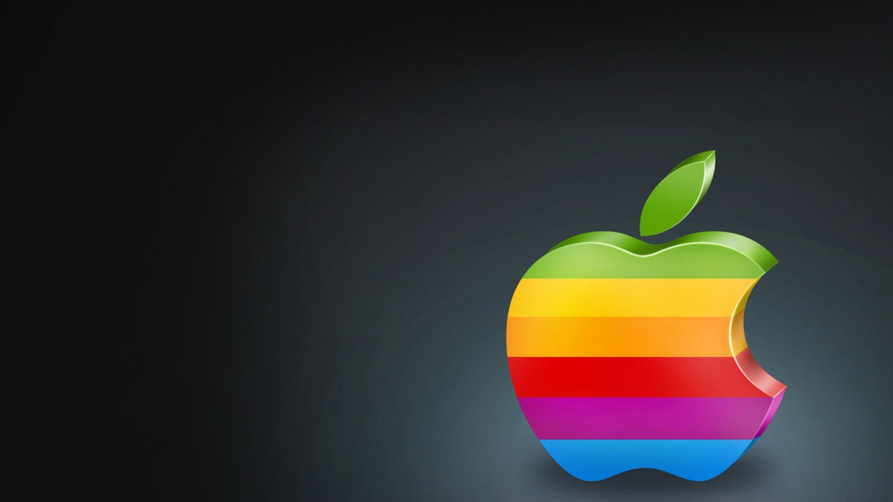 hd wallpaper colorful apple