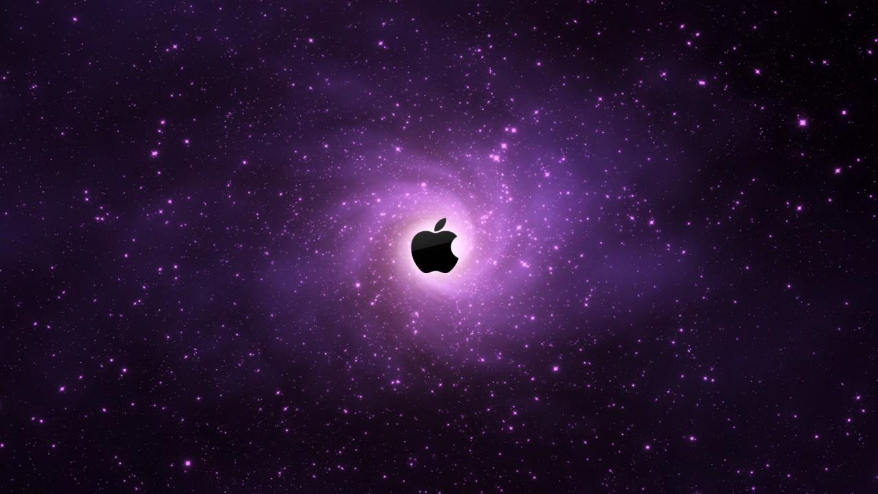 apple logo dark wide
