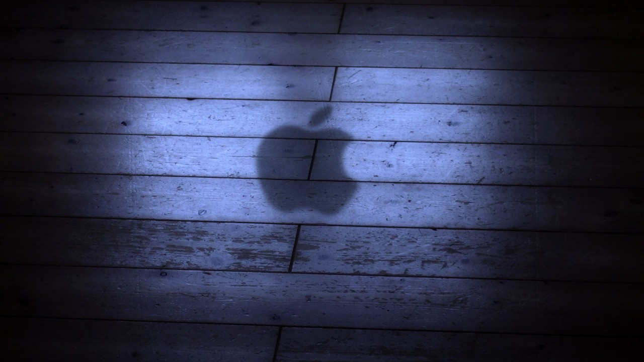 apple logo shadow wide