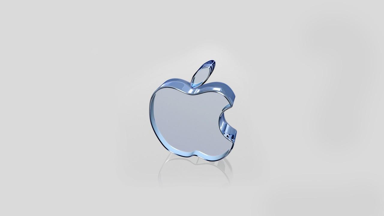 apple white glass wide