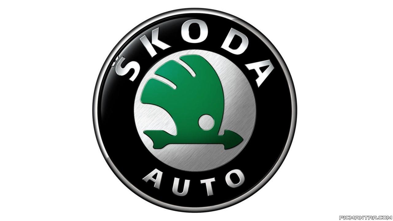 skoda logo hd wallpaper