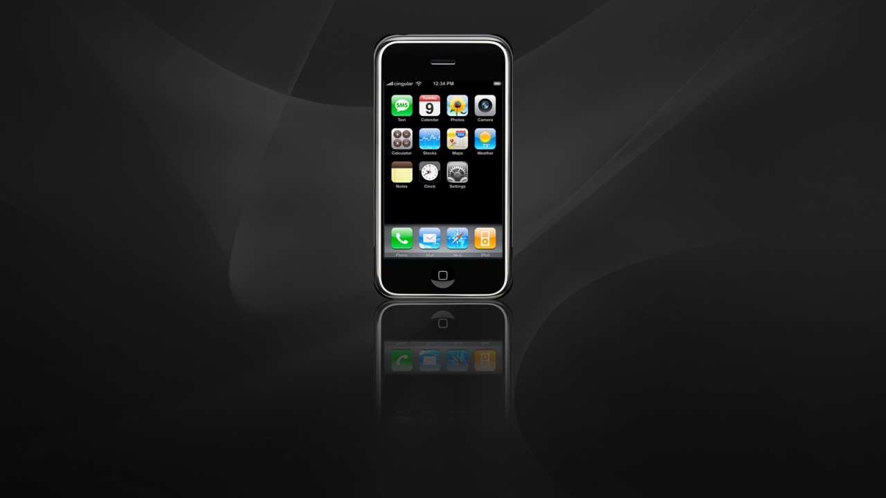 apple iphone in dark normal