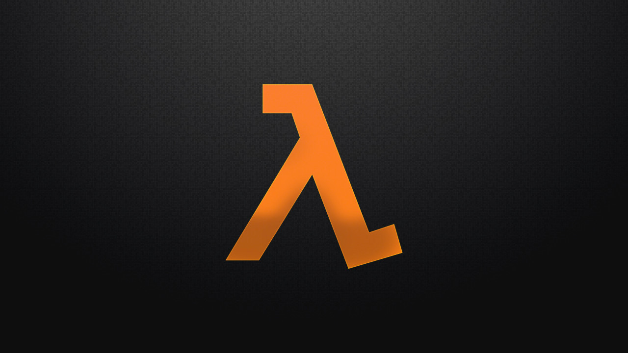 half life logos hd wallpaper