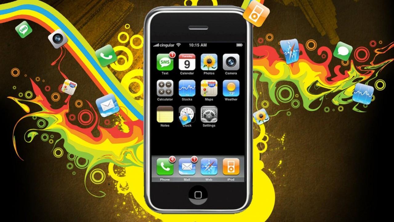 vector design iphone normal