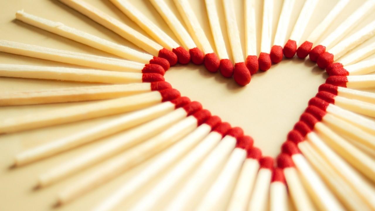 hd wallpaper love matchsticks