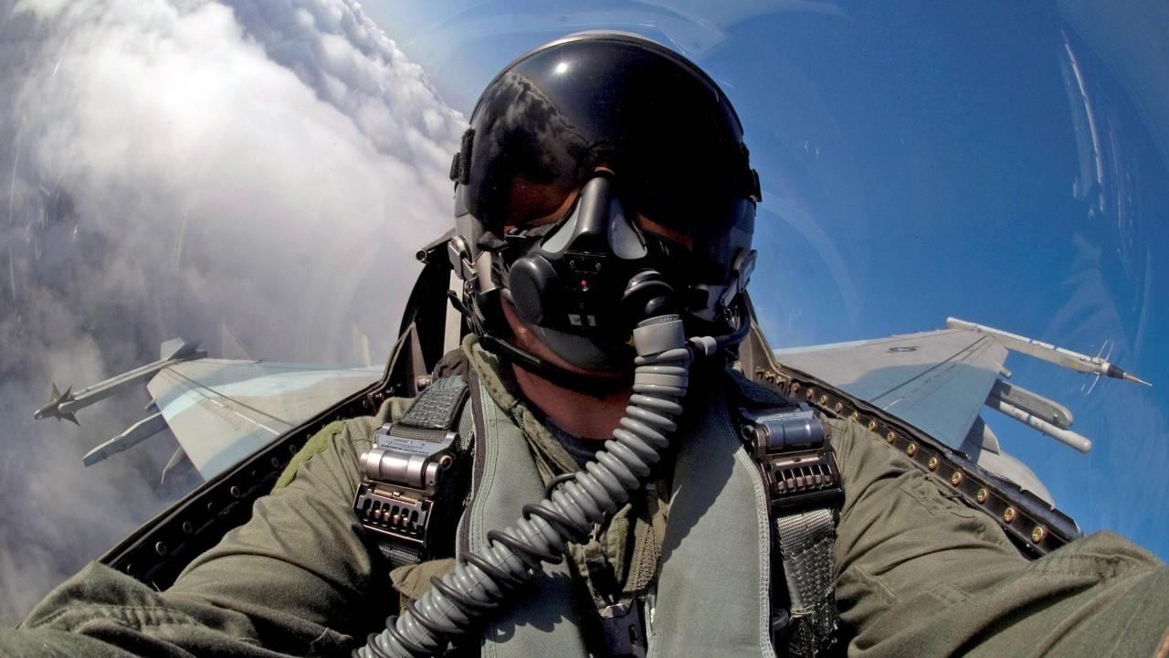 aicraft military pilot f16 hd wallpaper