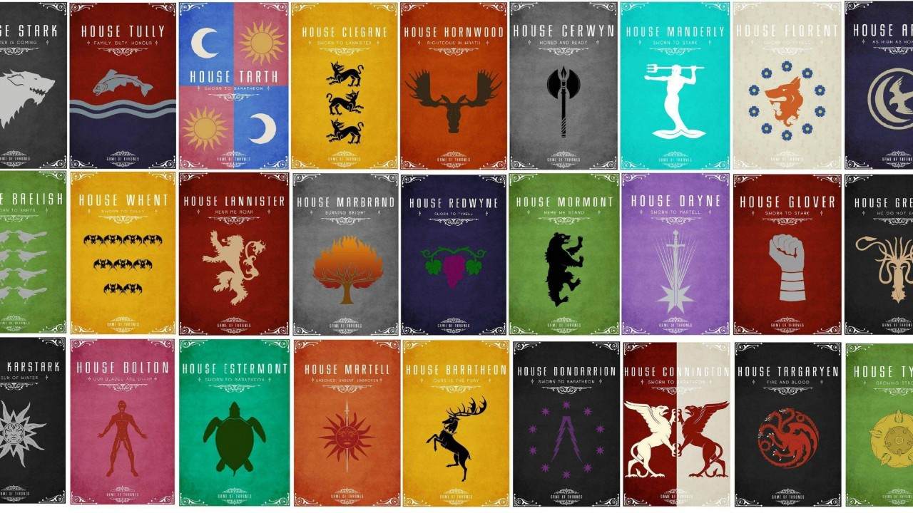 Game of thrones logos of houses