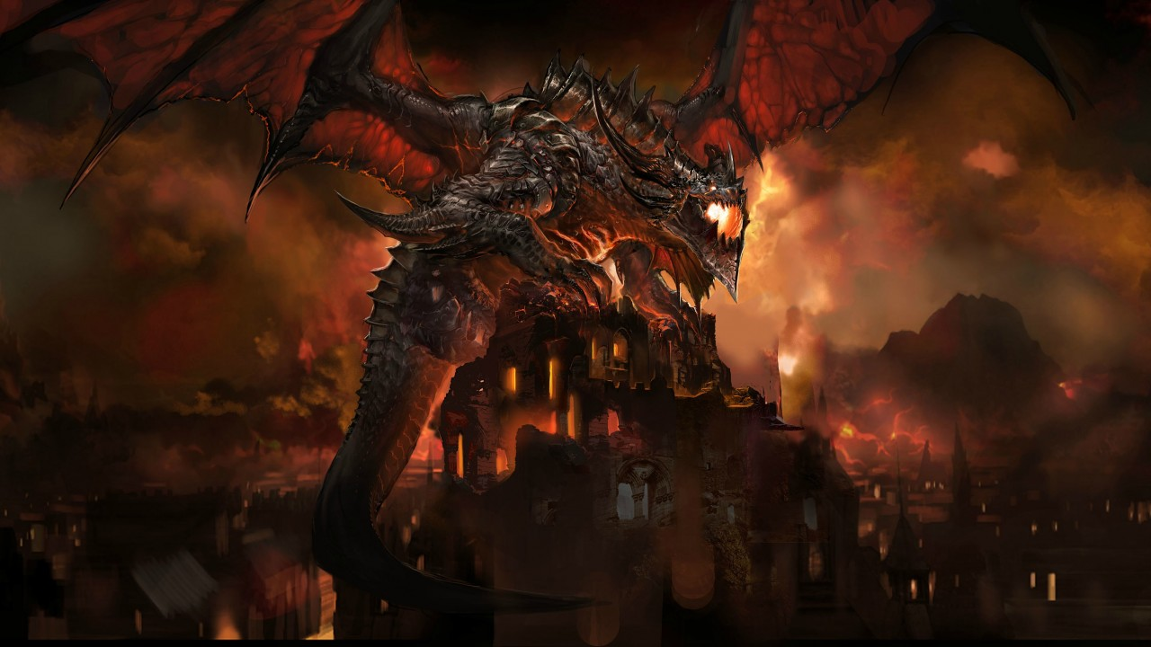 Smaug in The Hobbit The Desolation of Smaug