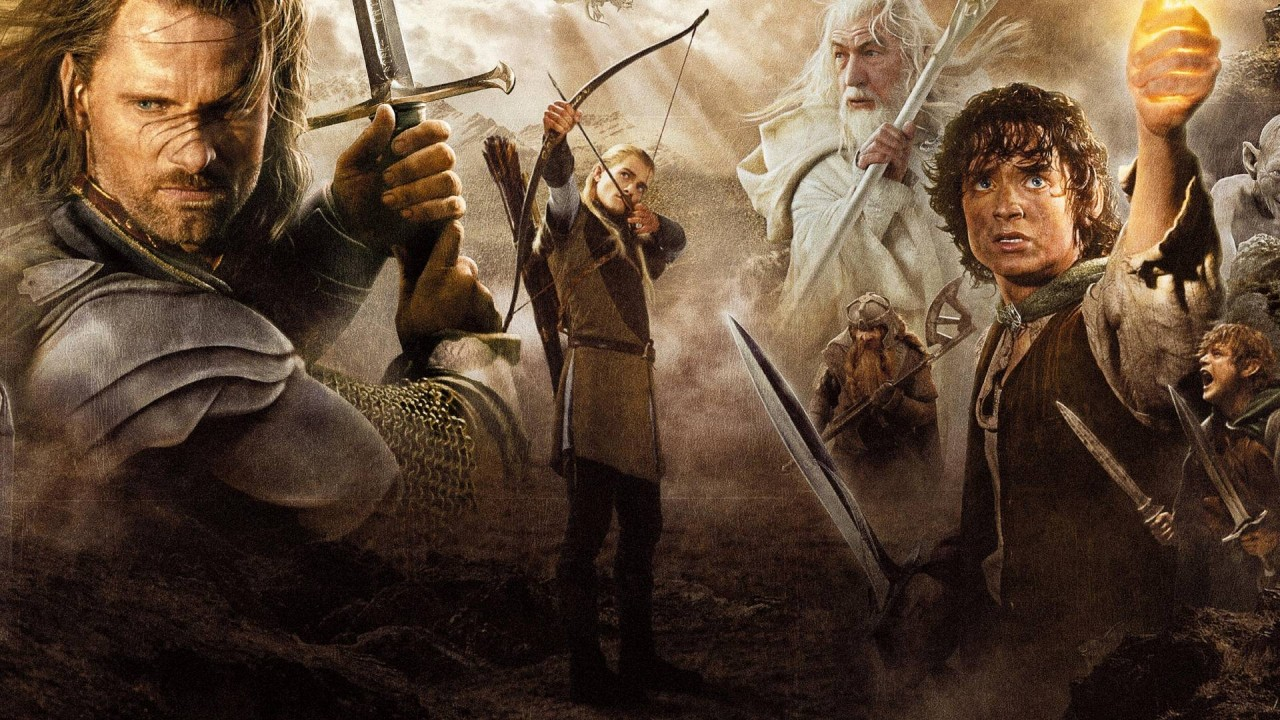 The main characters from Lord of the Rings