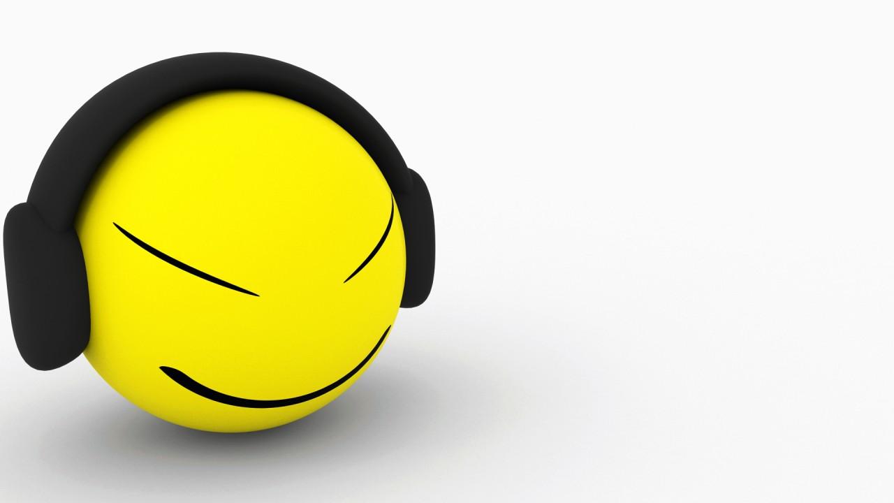 hd wallpaper muzic adds a smiley
