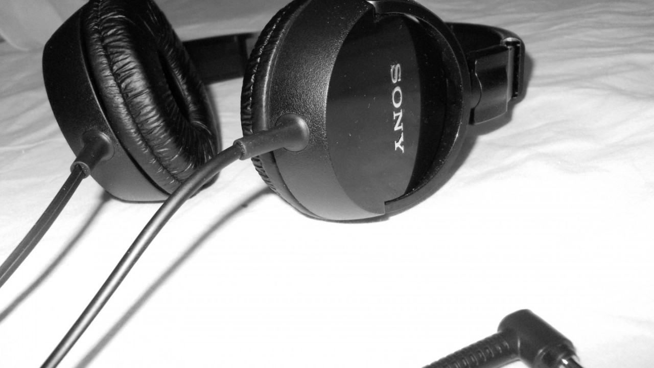 headphones sony music hd wallpaper