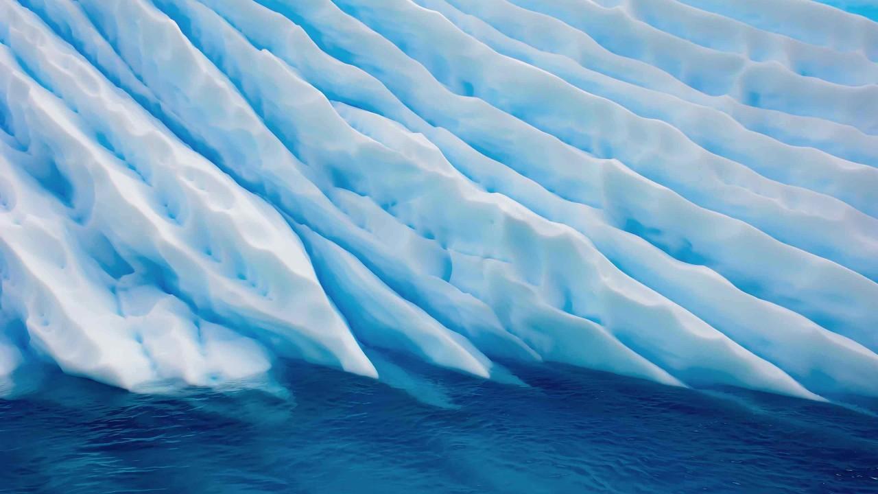 Crevasse in a glacier
